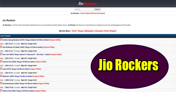 jio Rockers Latest website