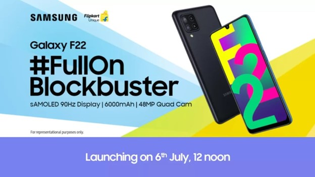 Samsung Galaxy F22 With 90hz Super Amoled Display, 6000 Mah Battery Released.